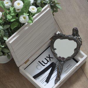 Caja madera blanca dlux