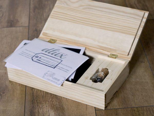 Caja de madera de pino más PRINTS