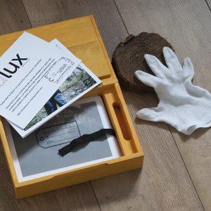 Caja madera azafrán dlux