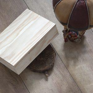 Caja madera natural dlux