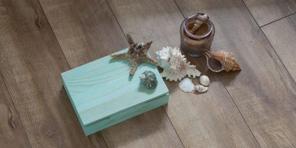 Caja madera turquesa dlux
