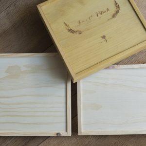 Caja de madera de pino